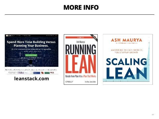 MORE INFO leanstack.com 44
