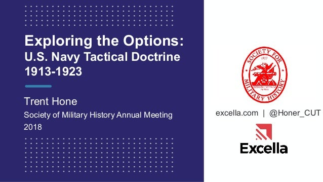 excella.com | @Honer_CUT Exploring the Options: U.S. Navy Tactical Doctrine 1913-1923 Trent Hone Society of Military Histo...