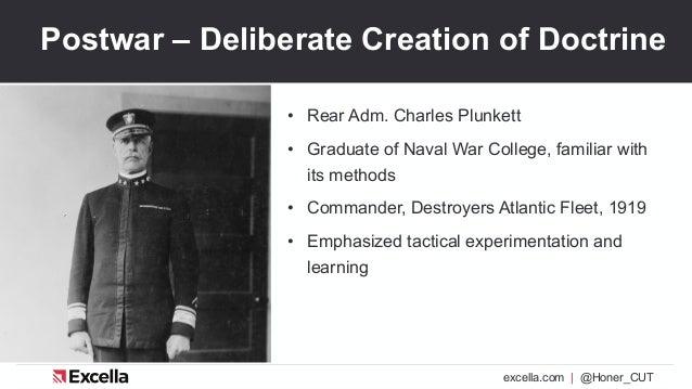 excella.com | @Honer_CUT Postwar – Deliberate Creation of Doctrine • Rear Adm. Charles Plunkett • Graduate of Naval War Co...
