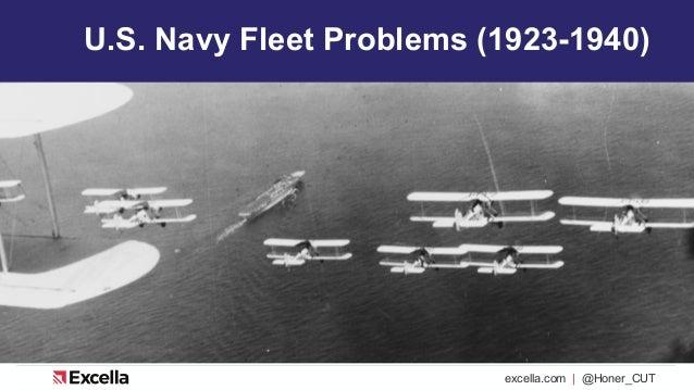 excella.com | @Honer_CUT U.S. Navy Fleet Problems (1923-1940)