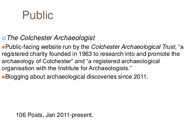 Frequency of Colchester Archaeologist Posts Number of Posts 16 14 12 10  Number of Posts  8 6 4 2 0