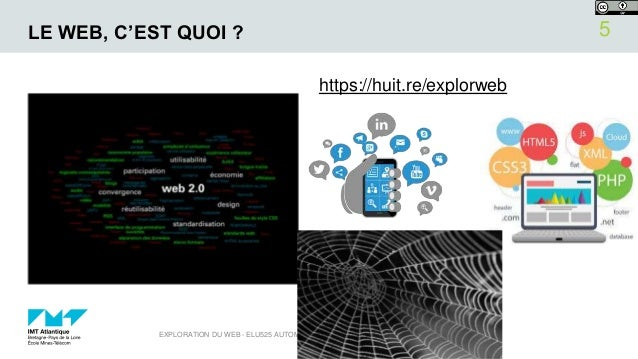 LE WEB, C'EST QUOI ? https://huit.re/explorweb 15/10/2018EXPLORATION DU WEB - ELU525 AUTOMNE 2018 5