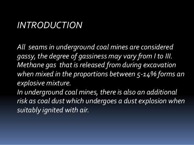 Explosives and blasting in underground coal mining  Slide 2