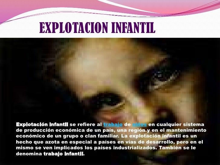 Explotacion Infantil