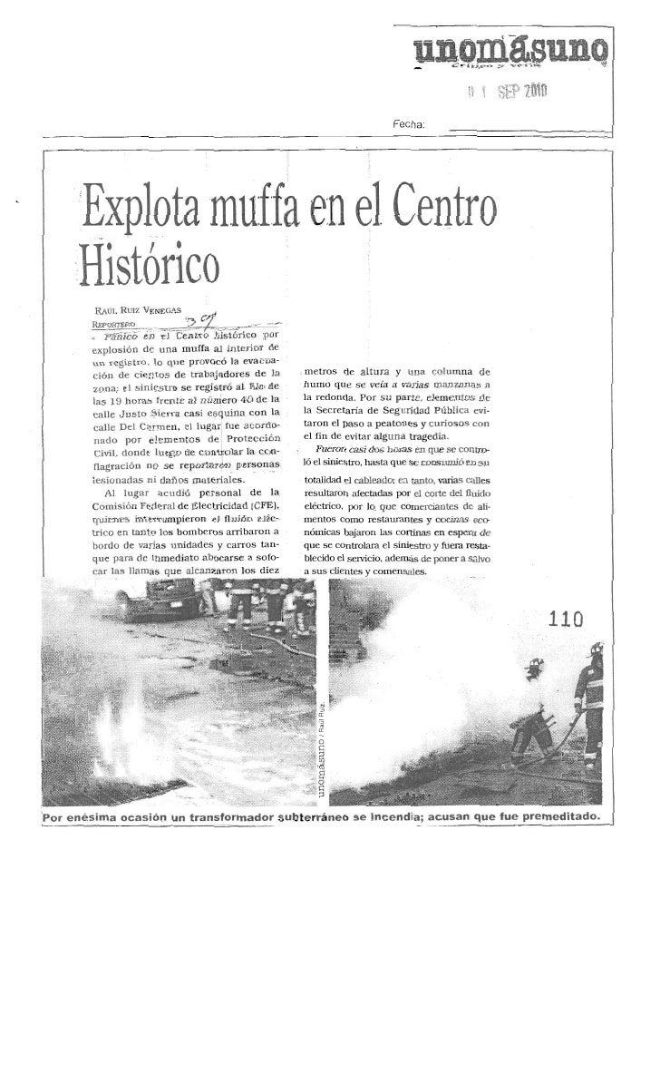 Explota muffa registro en centro histórico Unomasuno