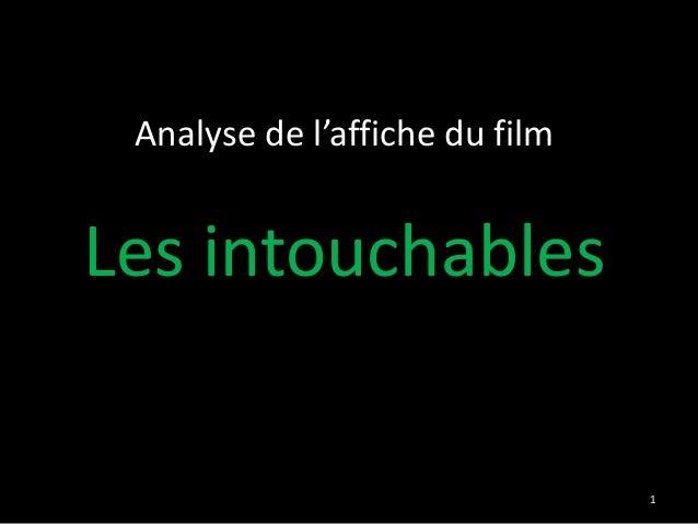 Analyse de l'affiche du filmLes intouchables                                1