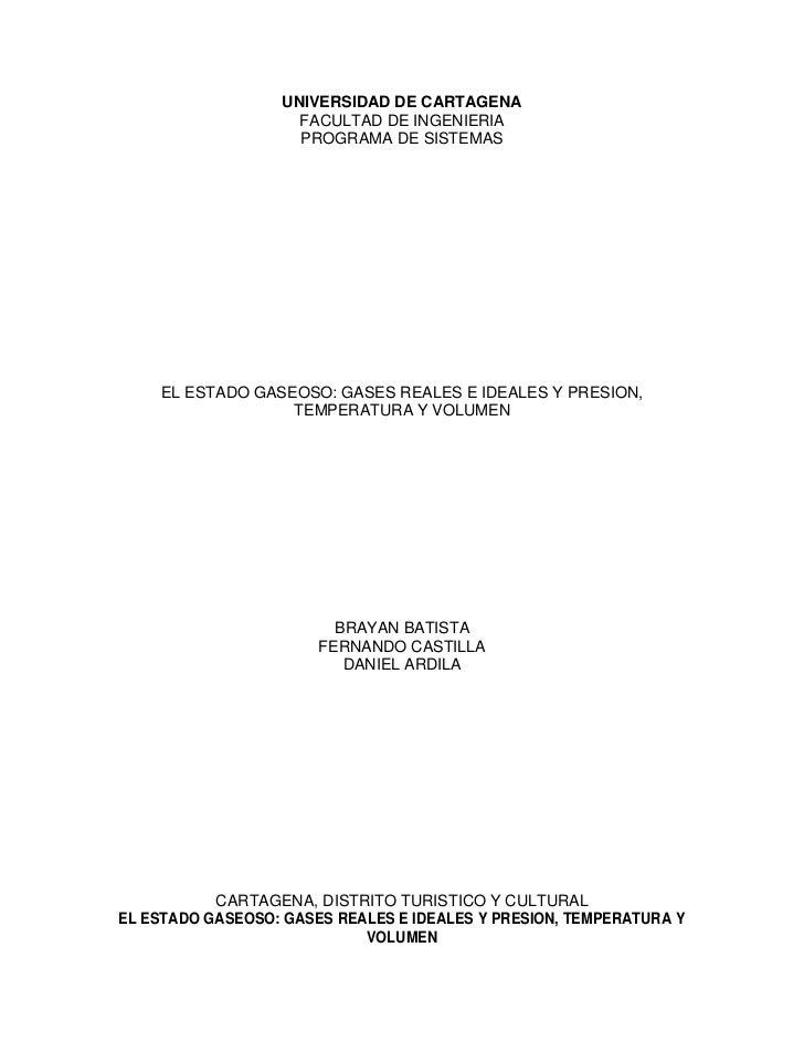UNIVERSIDAD DE CARTAGENA                     FACULTAD DE INGENIERIA                     PROGRAMA DE SISTEMAS    EL ESTADO ...
