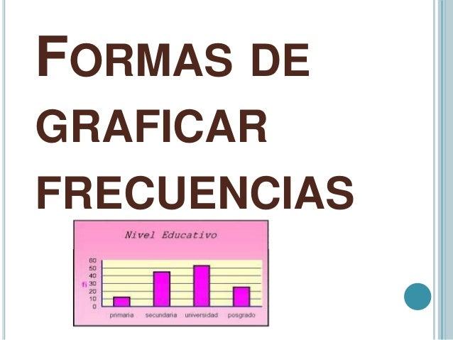 FORMAS DE GRAFICAR FRECUENCIAS