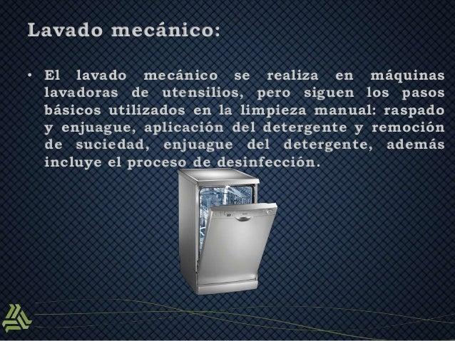 Limpieza correcta del equipo utensilios e instalaciones Metodos de limpieza y desinfeccion en el area de cocina