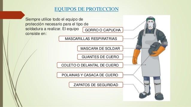 Seguridad en soldadura - Equipo soldadura electrica ...