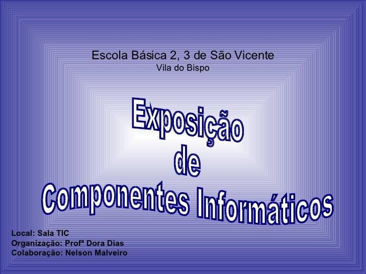 Escola Básica 2, 3 de São Vicente Vila do Bispo Local: Sala TIC Organização: Profª Dora Dias Colaboração: Nelson Malveiro ...