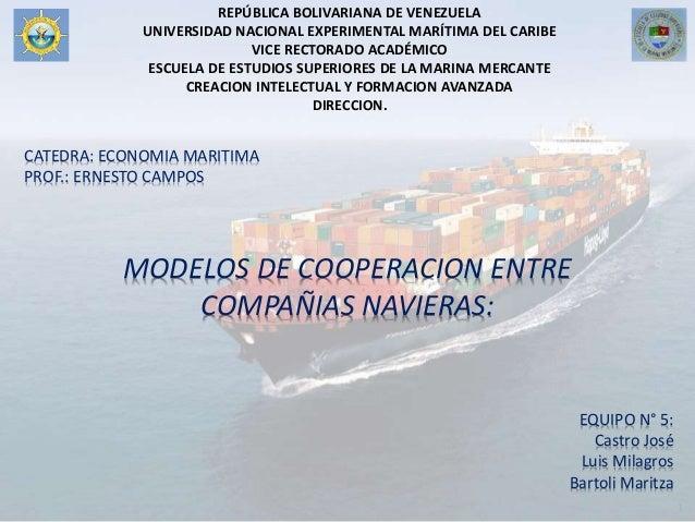 REPÚBLICA BOLIVARIANA DE VENEZUELA UNIVERSIDAD NACIONAL EXPERIMENTAL MARÍTIMA DEL CARIBE VICE RECTORADO ACADÉMICO ESCUELA ...