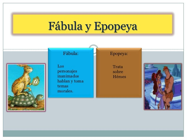 Bloque Iii Reconoces Las Diferencias Entre Fabula Y Epopeya