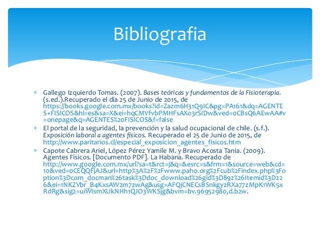 Bases teoricas y fundamentos de la fisioterapia tomas gallego