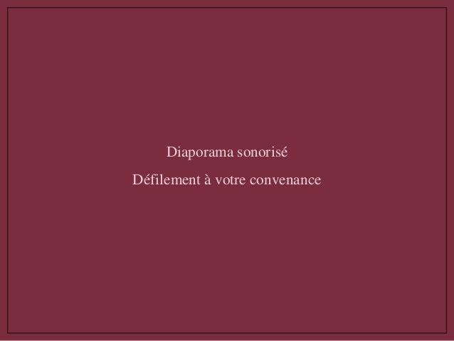Diaporama sonorisé Défilement à votre convenance