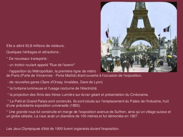 Expo Universelle 1900 Slide 3