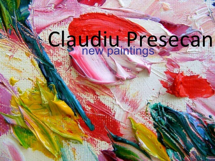 Claudiu Presecan new paintings