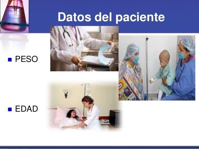 Datos del paciente  PESO  EDAD
