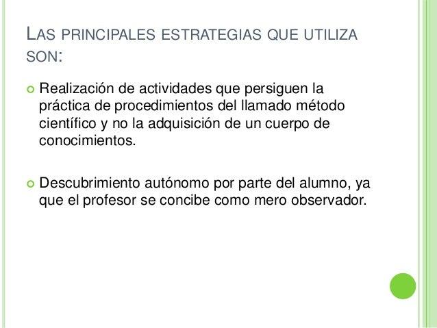 LAS PRINCIPALES ESTRATEGIAS QUE UTILIZASON: Realización de actividades que persiguen lapráctica de procedimientos del lla...