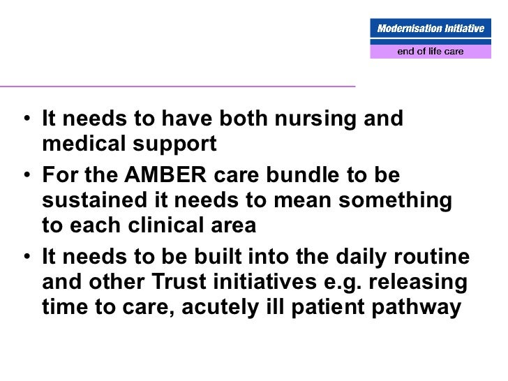Acute hospitals end of life care best practice