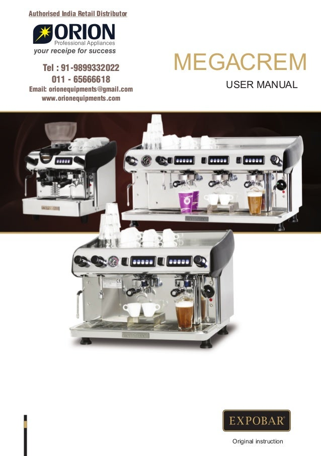 Expobar Megacrem Coffee Machine Dealer91 9899332022