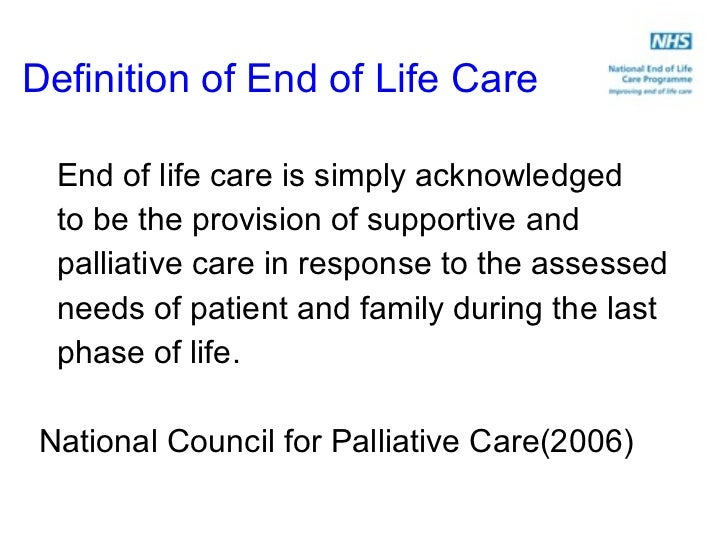 Care Homes And End Of Life Care