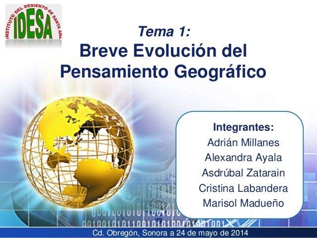 LOGO Integrantes: Adrián Millanes Alexandra Ayala Asdrúbal Zatarain Cristina Labandera Marisol Madueño Tema 1: Breve Evolu...
