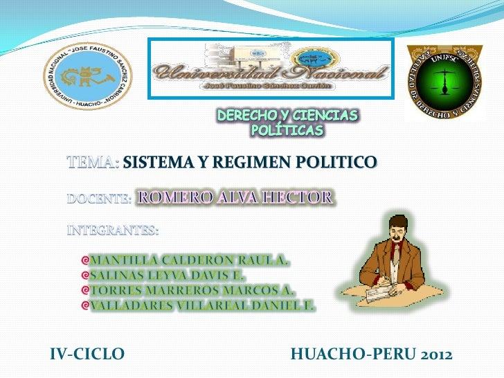 IV-CICLO   HUACHO-PERU 2012