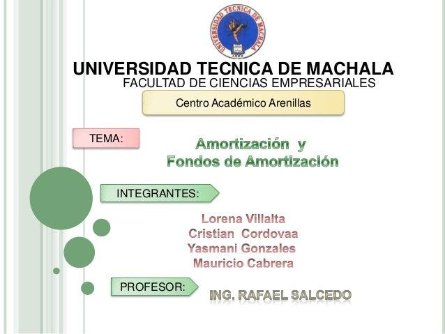 UNIVERSIDAD TECNICA DE MACHALA     FACULTAD DE CIENCIAS EMPRESARIALES             Centro Académico Arenillas TEMA:     INT...