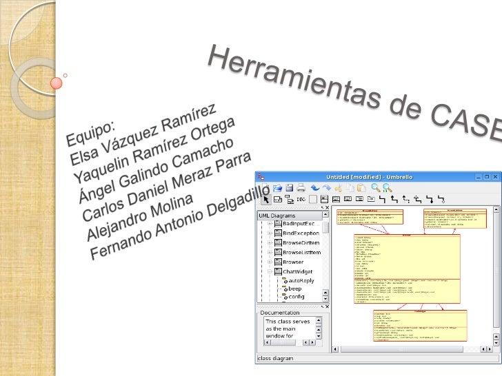 Herramientas de CASE<br />Equipo:<br />Elsa Vázquez Ramírez<br />Yaquelin Ramírez Ortega<br />Ángel Galindo Camacho<br />C...