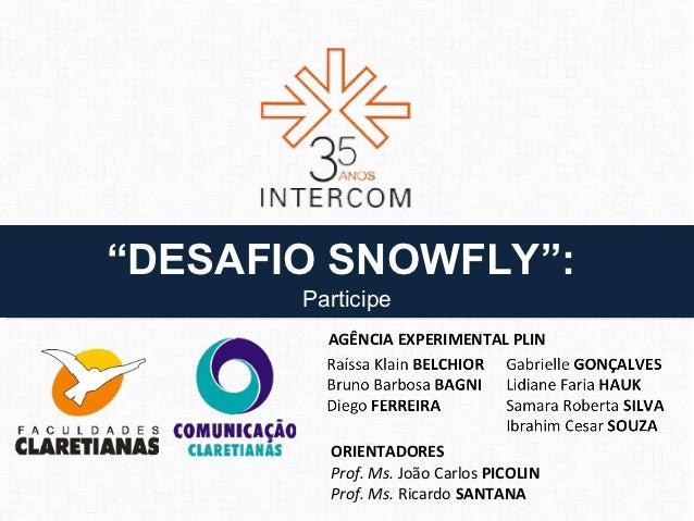 """""""DESAFIO SNOWFLY"""":""""DESAFIO SNOWFLY"""":       Participe       Participe         AGÊNCIA EXPERIMENTAL PLIN         ORIENTADORE..."""