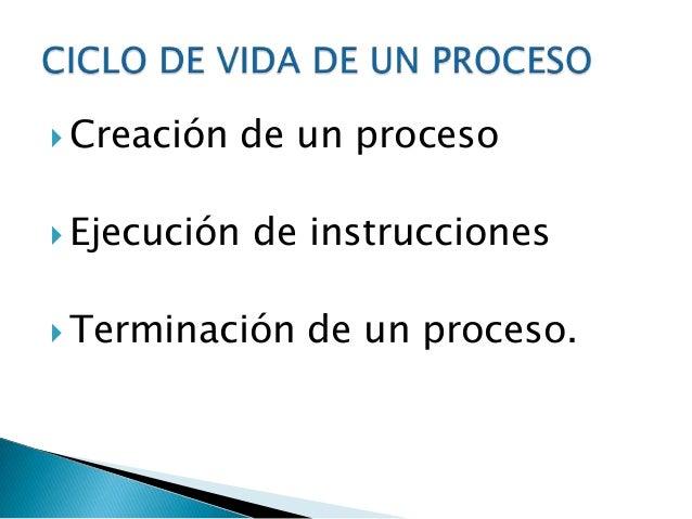    Puede estar en diferentes estados que obedecen    a su participación y disponibilidad dentro del SO   Los procesadore...