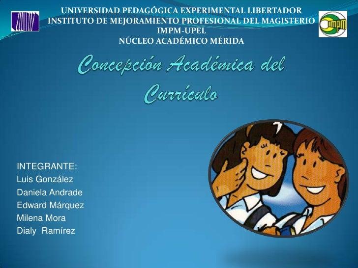 UNIVERSIDAD PEDAGÓGICA EXPERIMENTAL LIBERTADOR<br />INSTITUTO DE MEJORAMIENTO PROFESIONAL DEL MAGISTERIO<br />IMPM-UPEL<br...