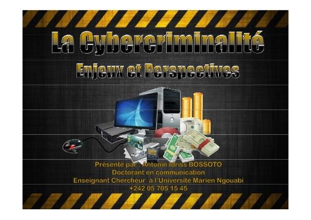 Introduction1. Historique2. Présentation2 Présentation3. Caractéristiquesetdifférentesformes4. LaCybercriminalité...