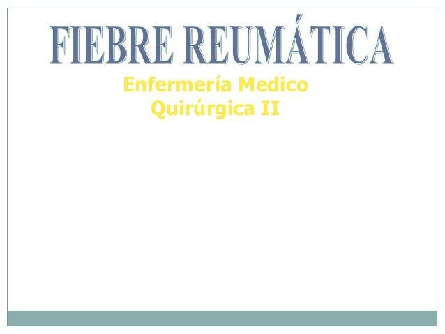 Enfermería Medico Quirúrgica II