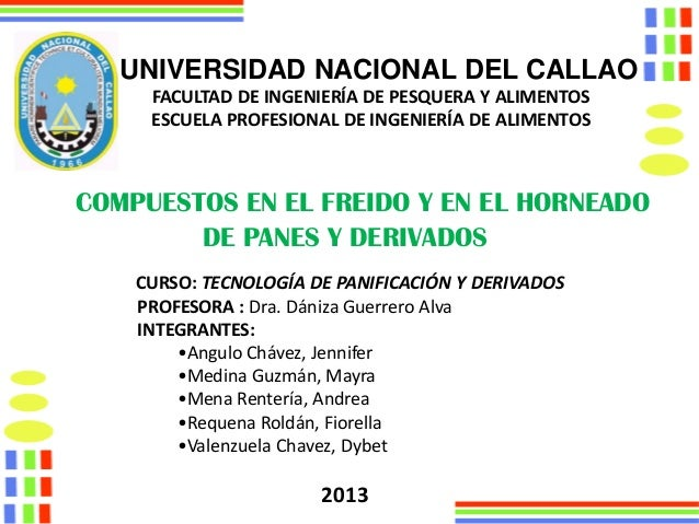 UNIVERSIDAD NACIONAL DEL CALLAO FACULTAD DE INGENIERÍA DE PESQUERA Y ALIMENTOS ESCUELA PROFESIONAL DE INGENIERÍA DE ALIMEN...