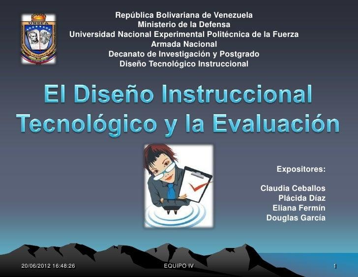 República Bolivariana de Venezuela                                 Ministerio de la Defensa                Universidad Nac...