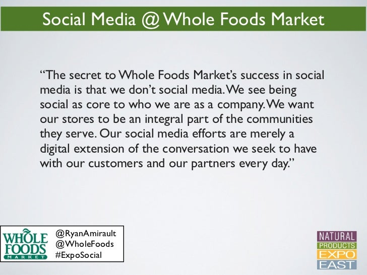 Whole Foods Core Values Success