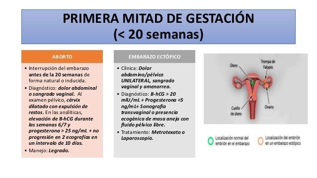 PRIMERA MITAD DE GESTACIÓN (< 20 semanas) ABORTO • Interrupción del embarazo antes de la 20 semanas de forma natural o ind...