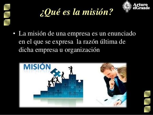 MISIÓN, VISIÓN,  OBJETIVOS Y VALORES DE UNA EMPRESA  Slide 3