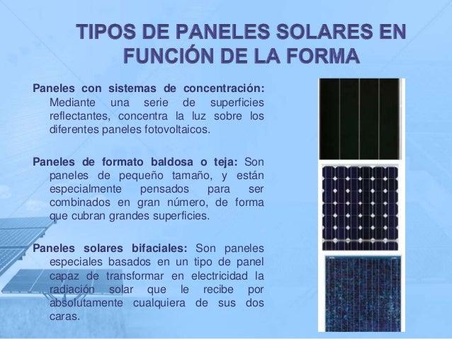 Paneles solares - Tipos de paneles solares ...