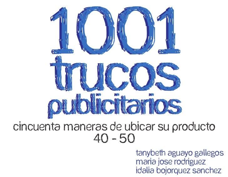 CINCUENTA MANERAS DE UBICAR SU PRODUCTO              40 - 50                       Tanybeth aguayo gallegos               ...