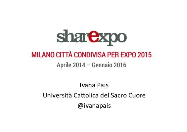 Ivana  Pais   Università  Ca/olica  del  Sacro  Cuore   @ivanapais