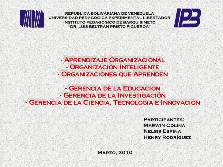 Participantes:  Marwin Colina Nelsis Espina Henry Rodríguez REPUBLICA BOLIVARIANA DE VENEZUELA UNIVERSIDAD PEDAGÓGICA EXPE...