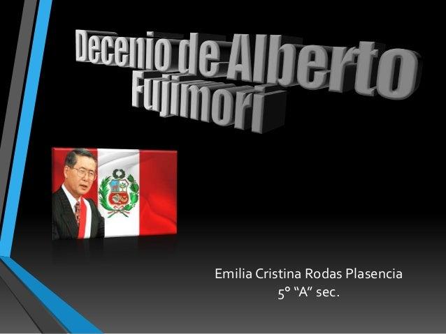 """Emilia Cristina Rodas Plasencia 5° """"A"""" sec."""