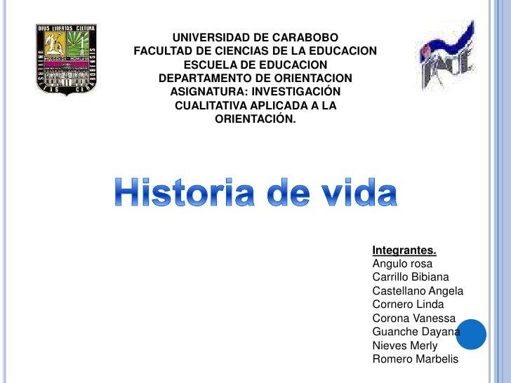 UNIVERSIDAD DE CARABOBO<br />FACULTAD DE CIENCIAS DE LA EDUCACION<br />ESCUELA DE EDUCACION<br />DEPARTAMENTO DE ORIENTACI...