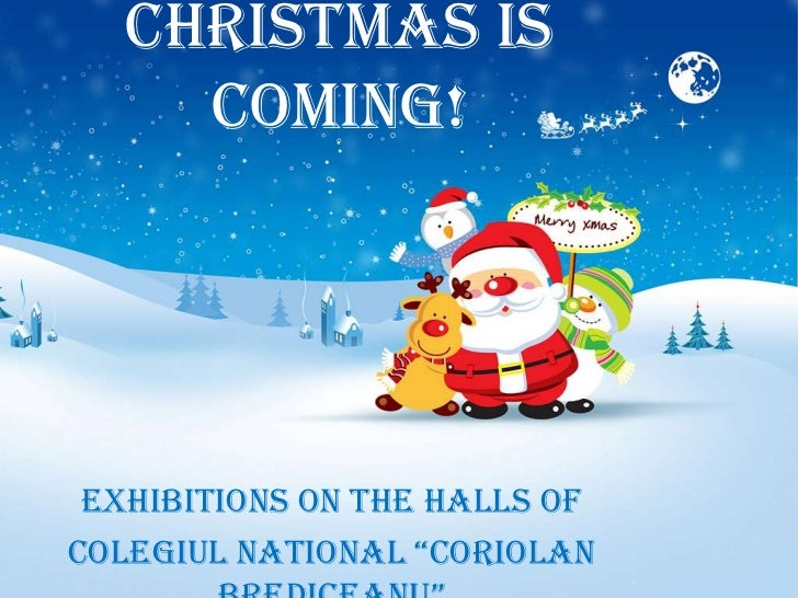 """Christmas is     coming! Exhibitions on the halls ofColegiul NatioNal """"Coriolan"""
