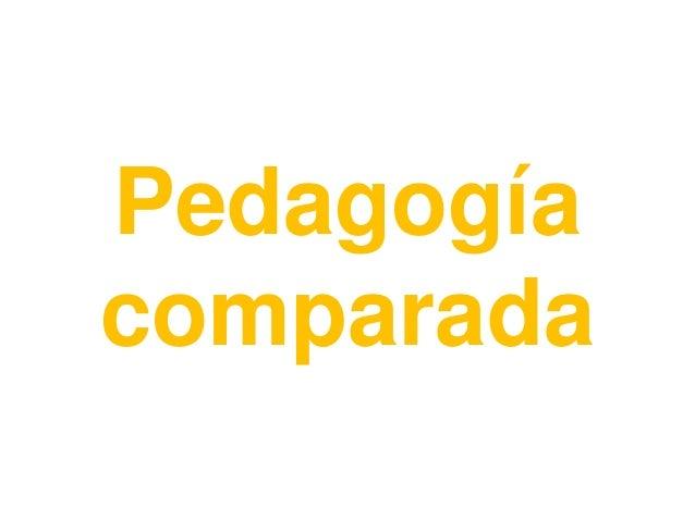 Pedagogíacomparada