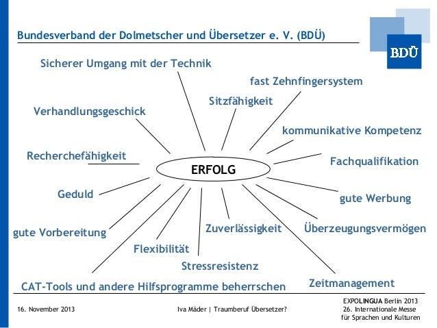 Bundesverband der Dolmetscher und Übersetzer e.V. (BDÜ) Sicherer Umgang mit der Technik fast Zehnfingersystem Sitzfähigke...