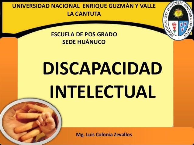 UNIVERSIDAD NACIONAL ENRIQUE GUZMÁN Y VALLE                 LA CANTUTA           ESCUELA DE POS GRADO              SEDE HU...
